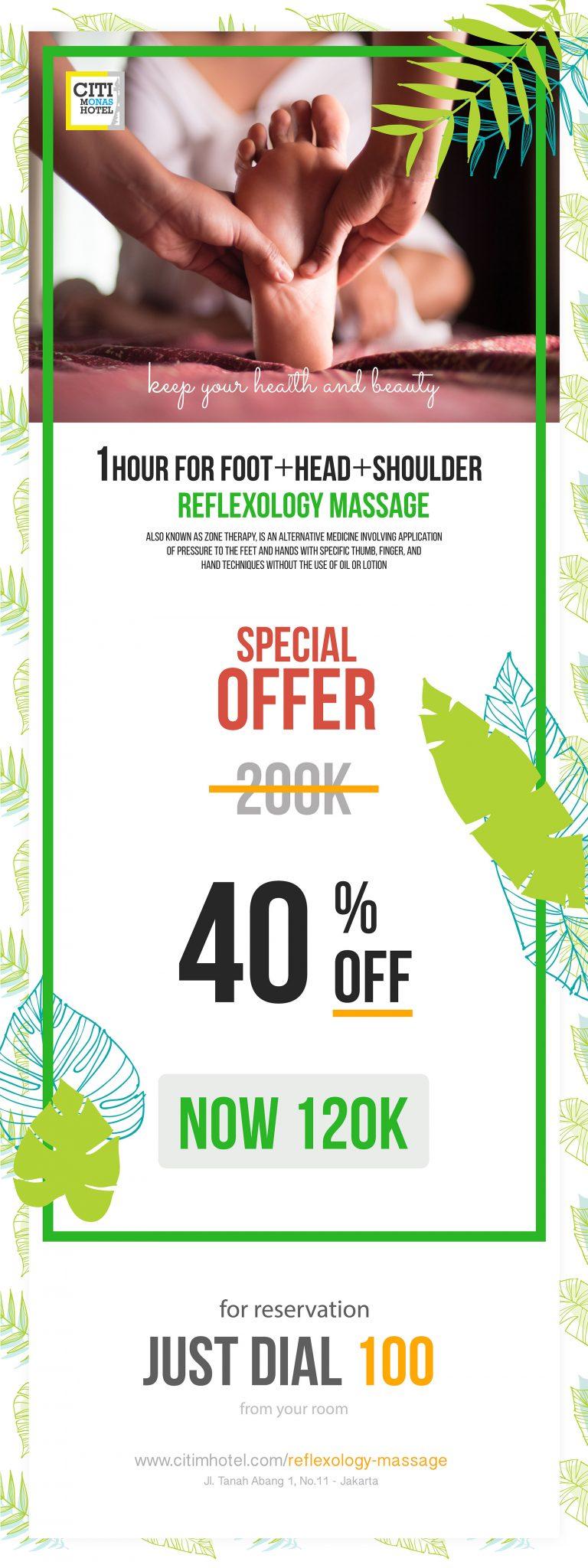 Reflexology Massage at Citi M Hotel Jakarta