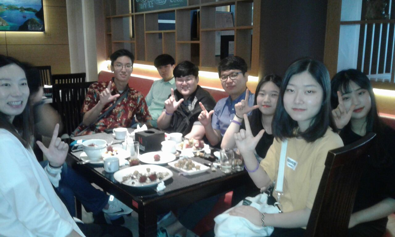 Rombongan dari negara Korea
