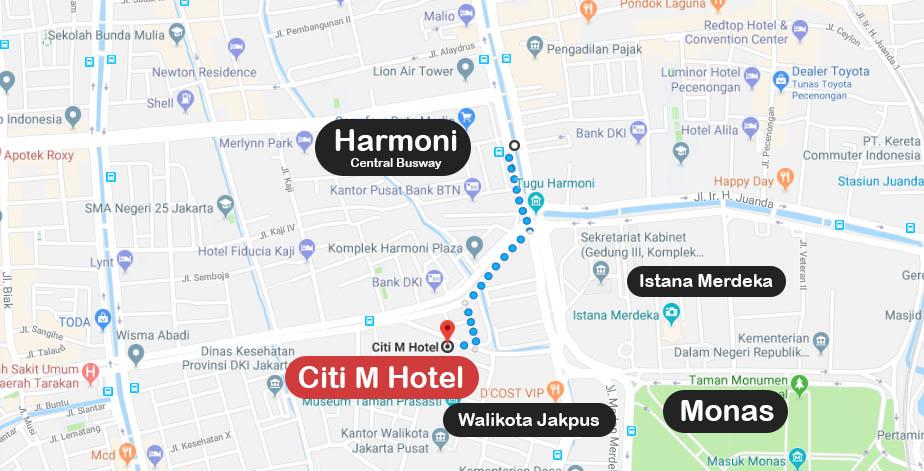 lokasi-dan-peta-citi-m-hotel-jakarta