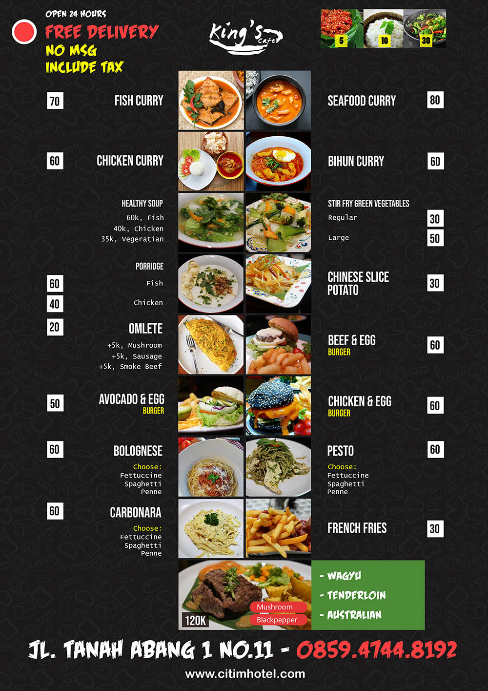 kings cafe - menu utama 1