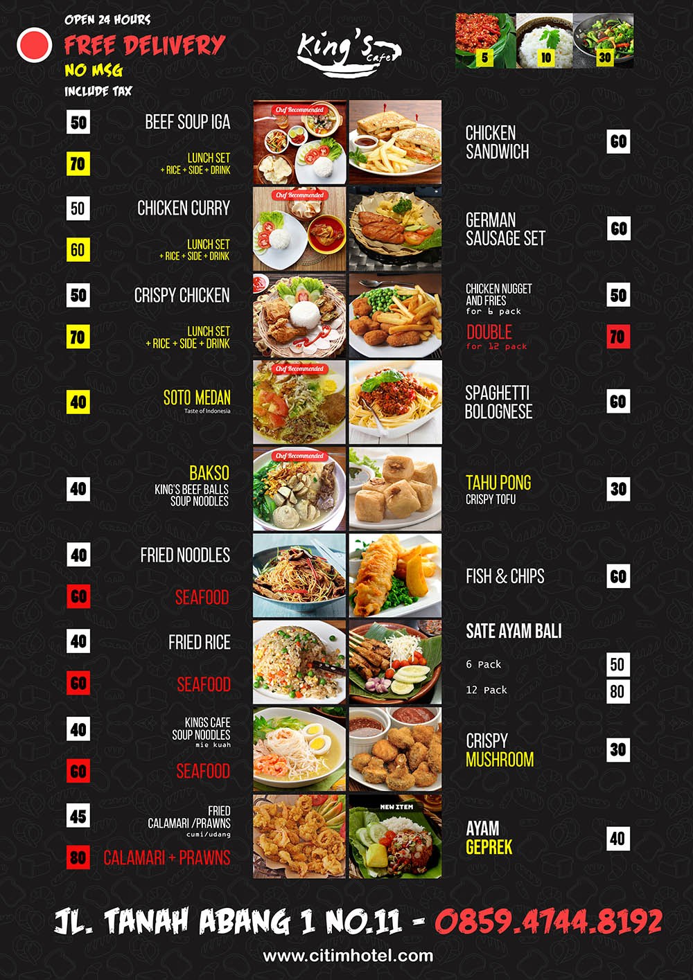 kings cafe - menu utama 2
